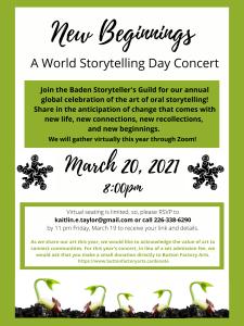 Poster for World Storytelling Day 2021